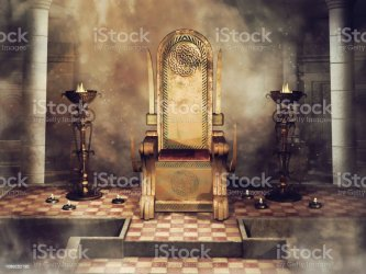 throne fantasy room castle celtic royal candles burners king royalty 3d chair ornaments render medieval crown depositphotos queen woman similar