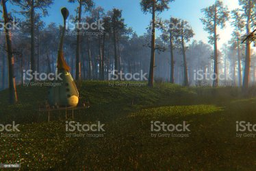 Fantasy Village House In The Fairytale Forest Stock Photo Download Image Now iStock