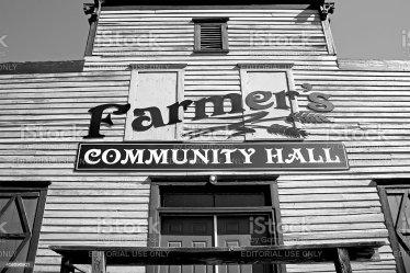 hall town rural building america government scene local community