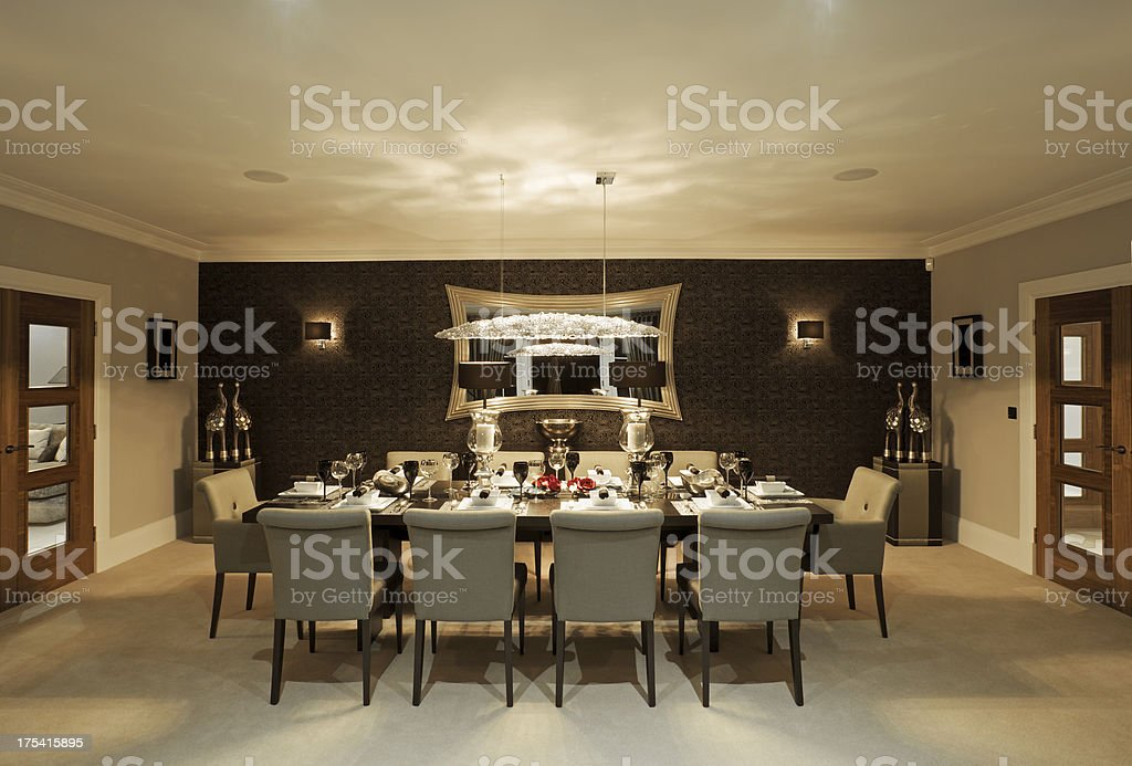 Fine Dining Room At Night Stock Photo  More Pictures of Architectural Feature  iStock