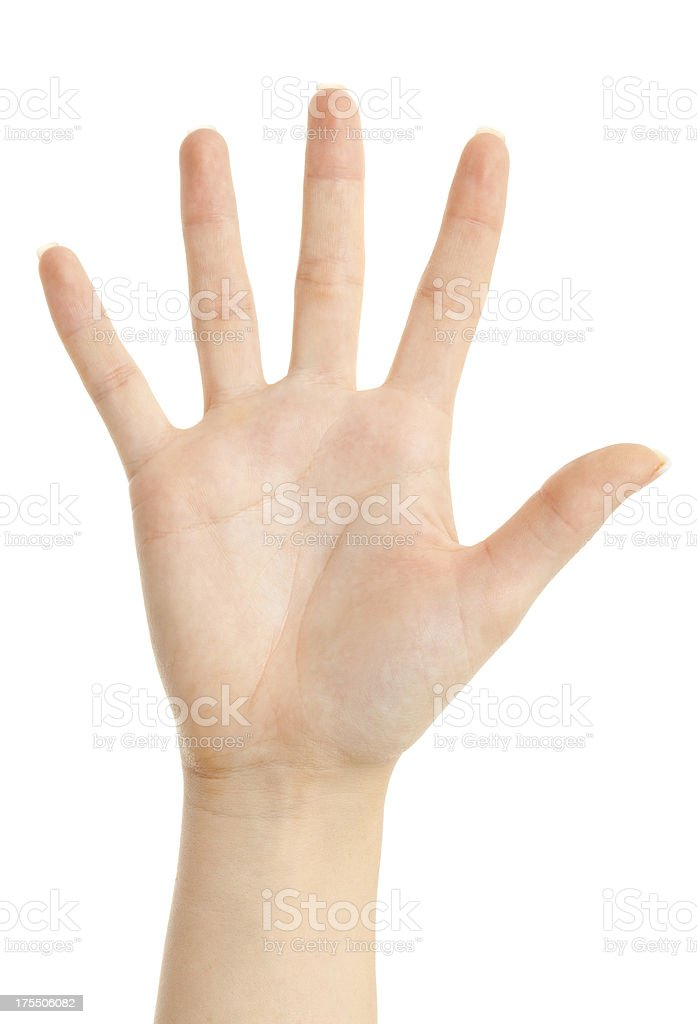 Five Fingers Of From A Woman Hand Stock Photo - Download ...