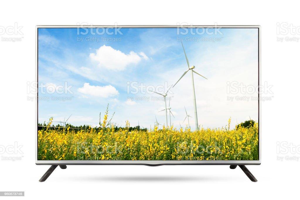 https www istockphoto com fr photo paysage de tv c3 a9cran plat isol c3 a9 fond blanc gm950573746 259460762