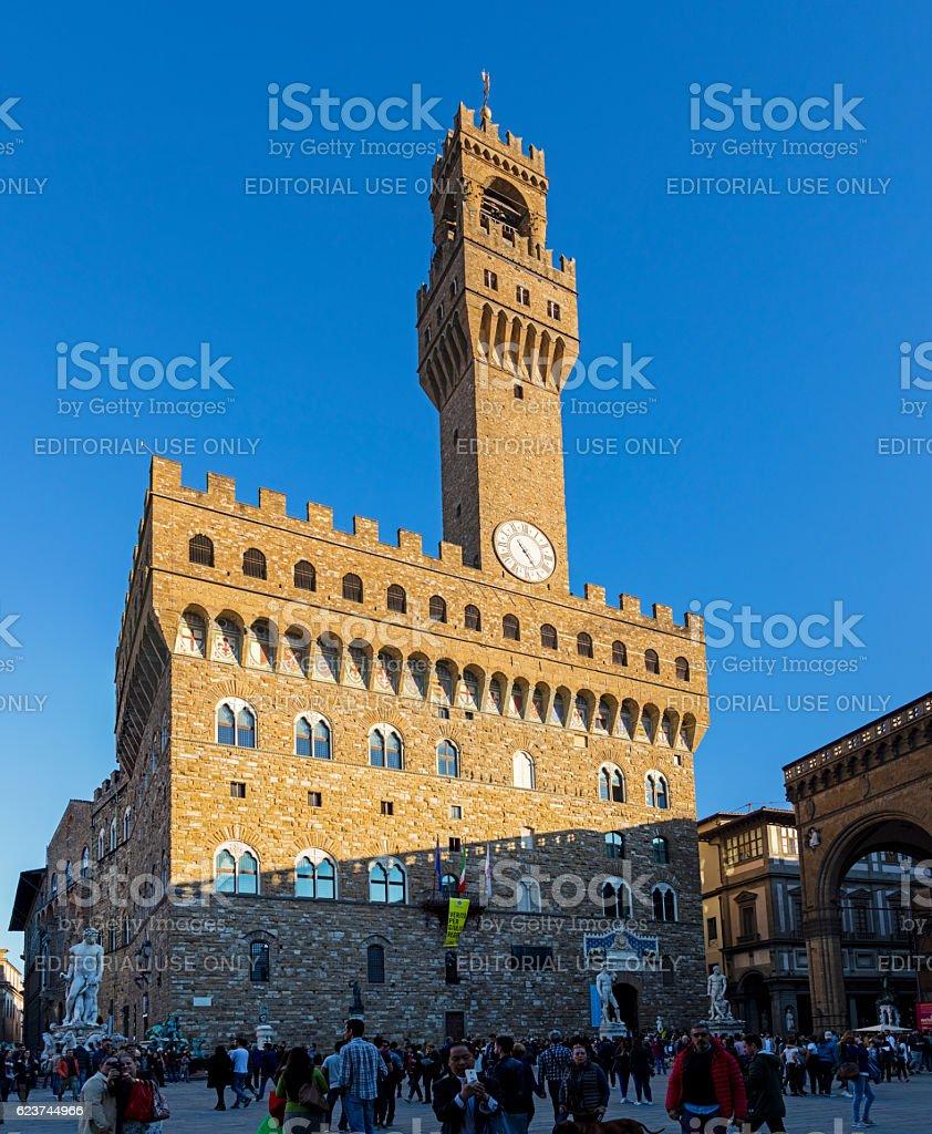 Florence Italy Piazza Della Signoria Stock Photo - Download Image Now - iStock