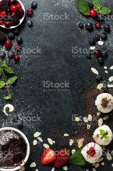 menu background food desserts istock
