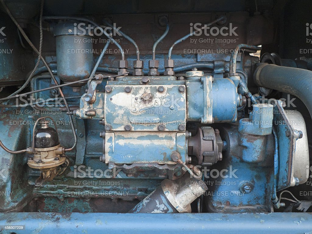 hight resolution of fordson major diesel engine royalty free stock photo