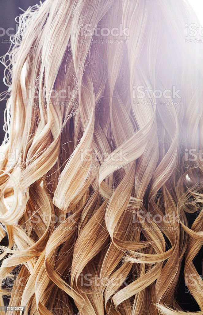 Freshly Curled Blonde Hair Stock Photo  More Pictures of
