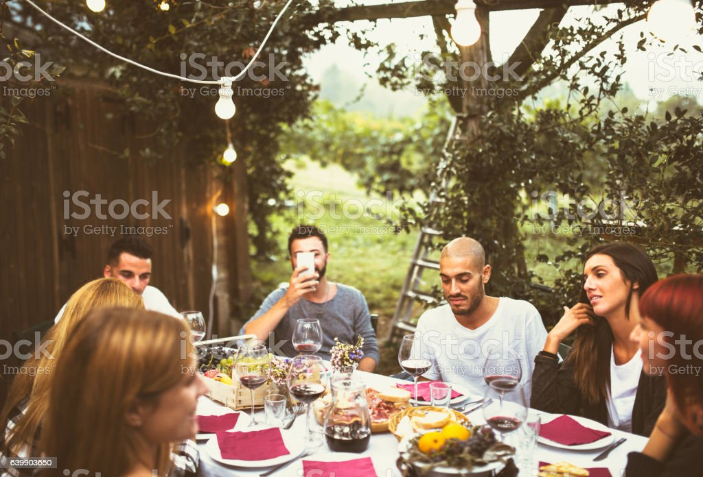 Friends Doing The Lunch Stock Photo - Download Image Now - iStock