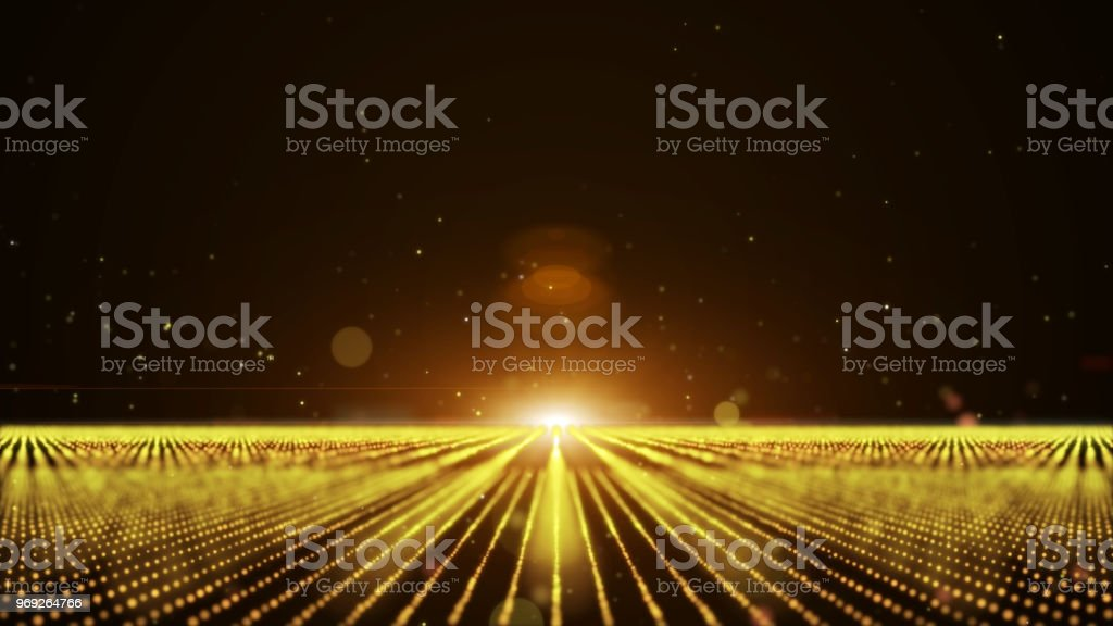 gold orange abstract animation