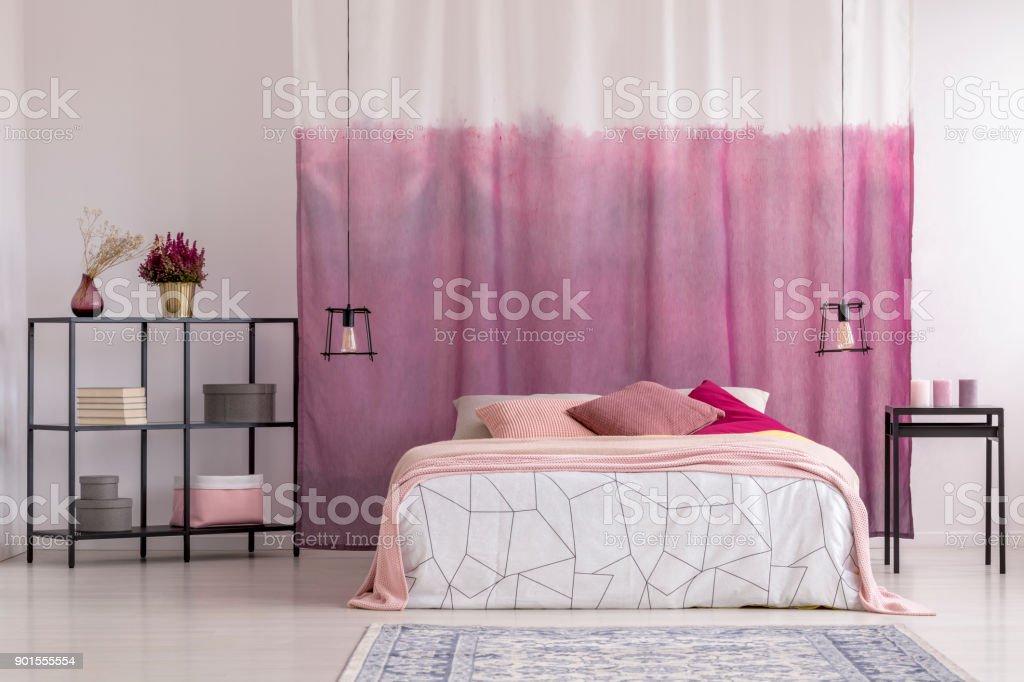 Gradient Curtains In Girls Bedroom Stock Photo Download Image Now Istock