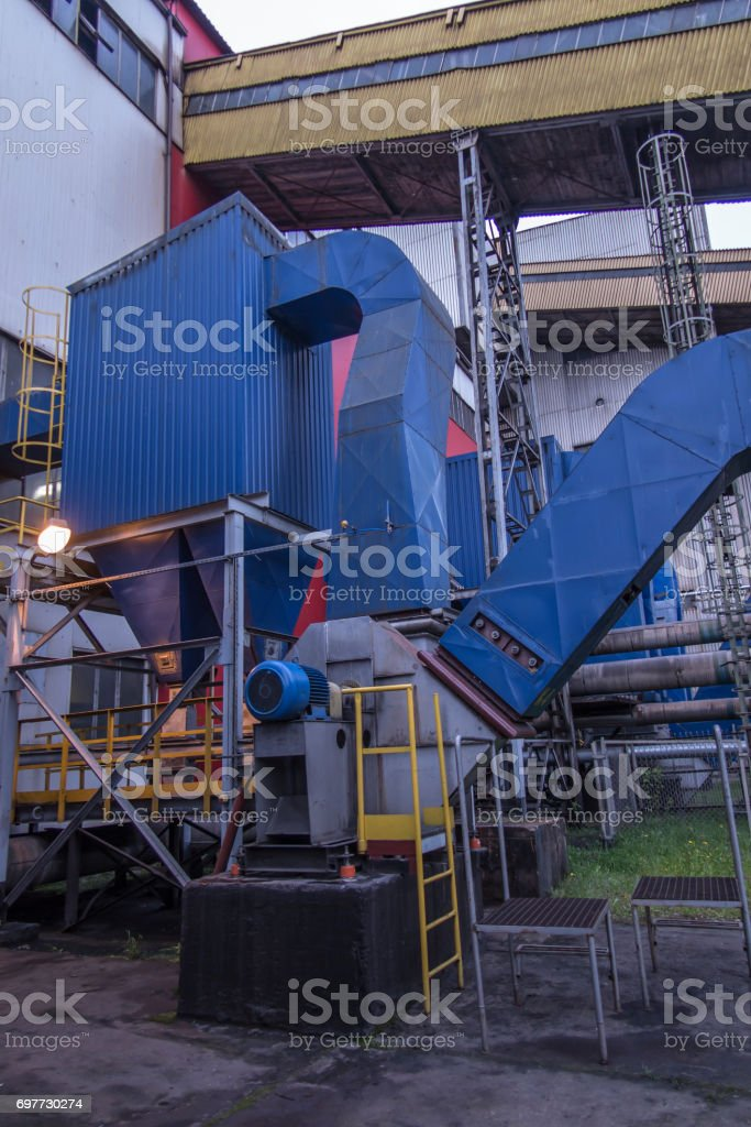 https www istockphoto com photo gravity dust collector and exhaust fan behind coal boiler gm697730274 129242019