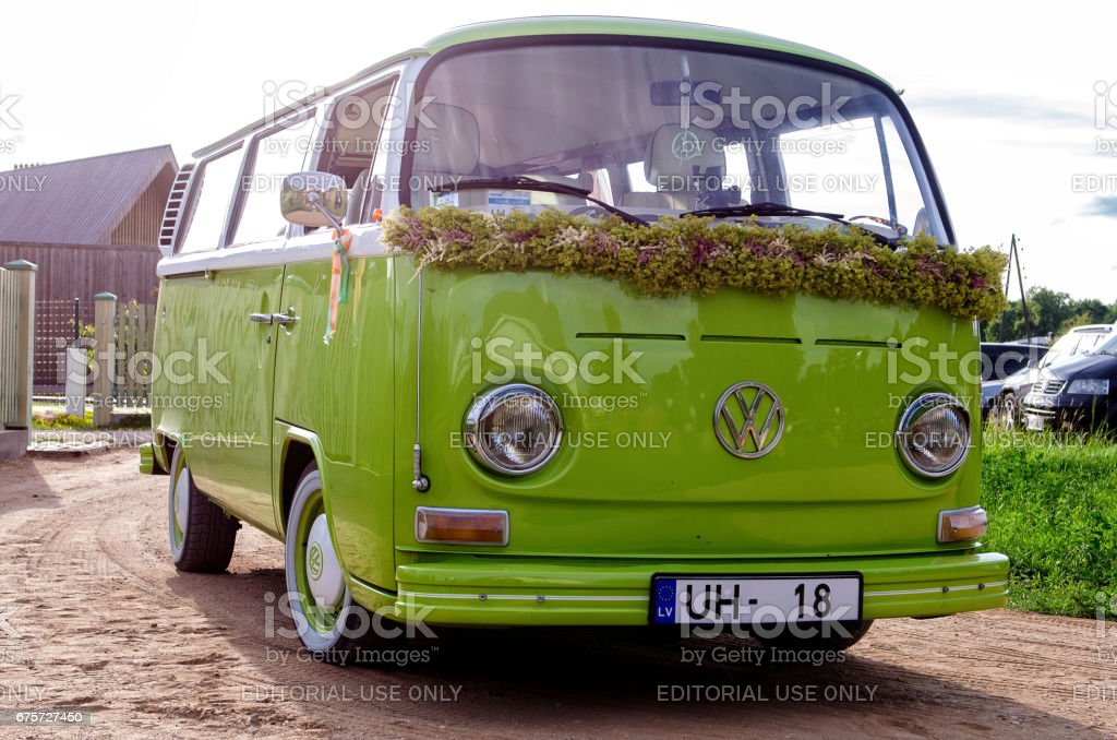 green old vw bus