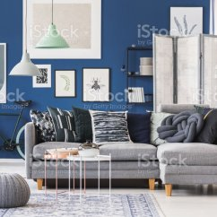 Pouf In Living Room Pinterest Home Decor Grey Stock Photo More Pictures Of Apartment Image