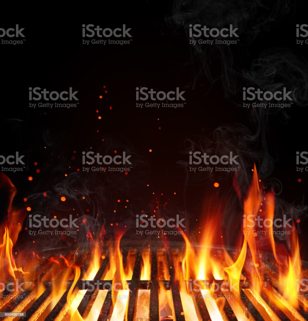 grill barbecue background empty