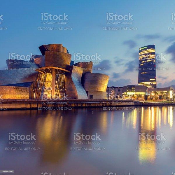 Guggenheim Museum Bilbao And Iberdrola Tower Stock