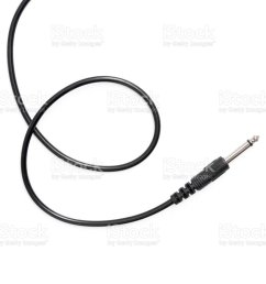 guitar audio jack with black cable isolated on white background royalty free stock photo [ 1024 x 867 Pixel ]