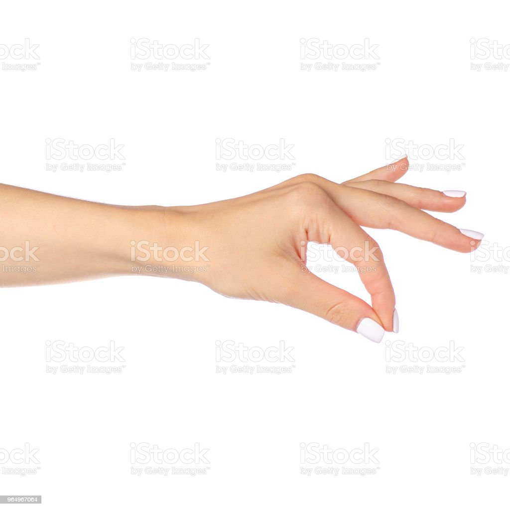 hand posing as holding