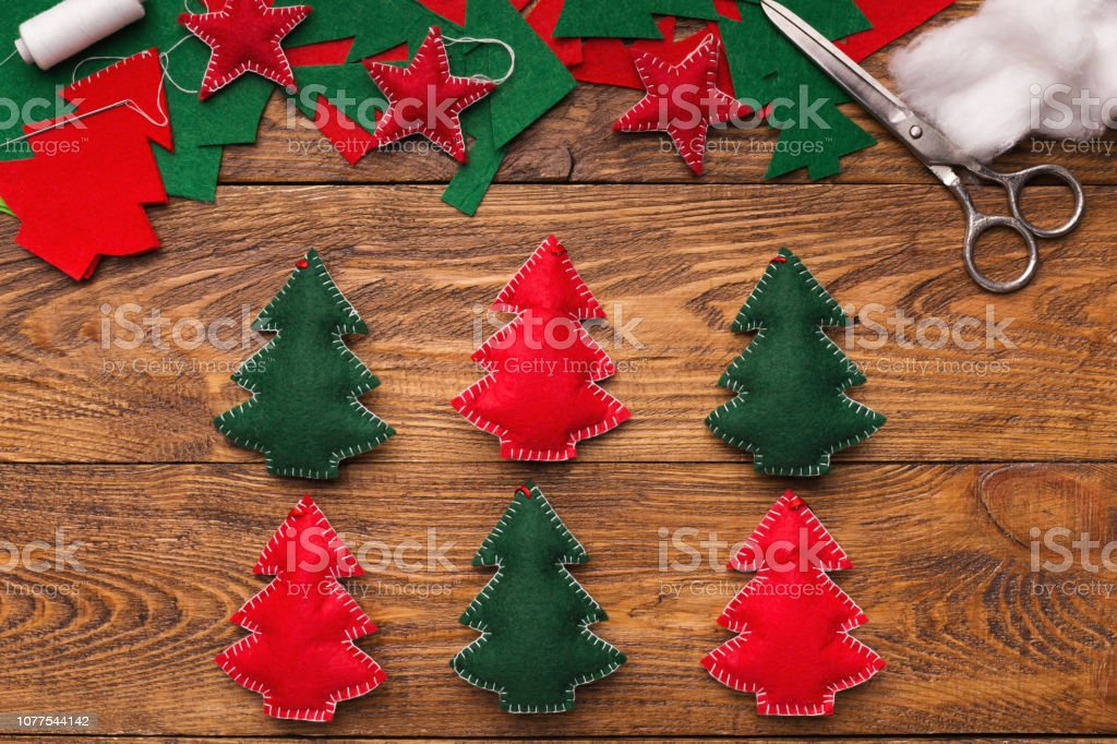 Handmade Christmas Decorations Diy Project For Holidays Stock Photo Download Image Now Istock