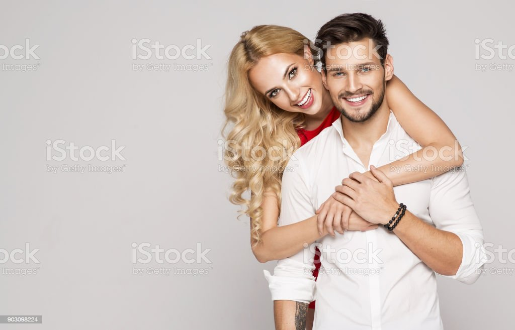 best smiling couple stock