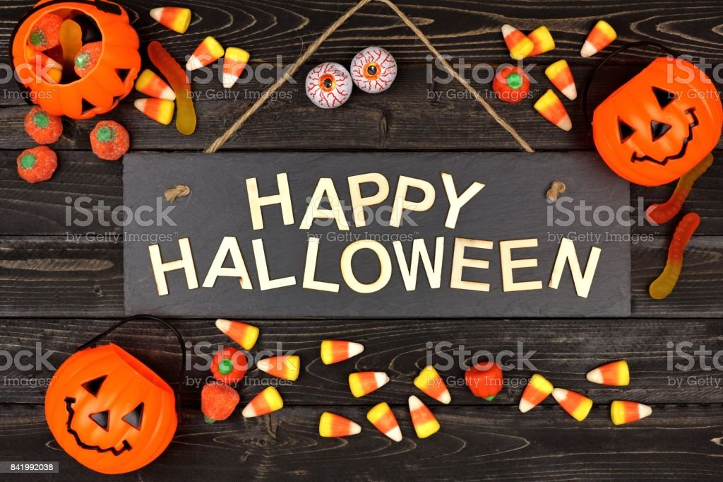 happy halloween sign and