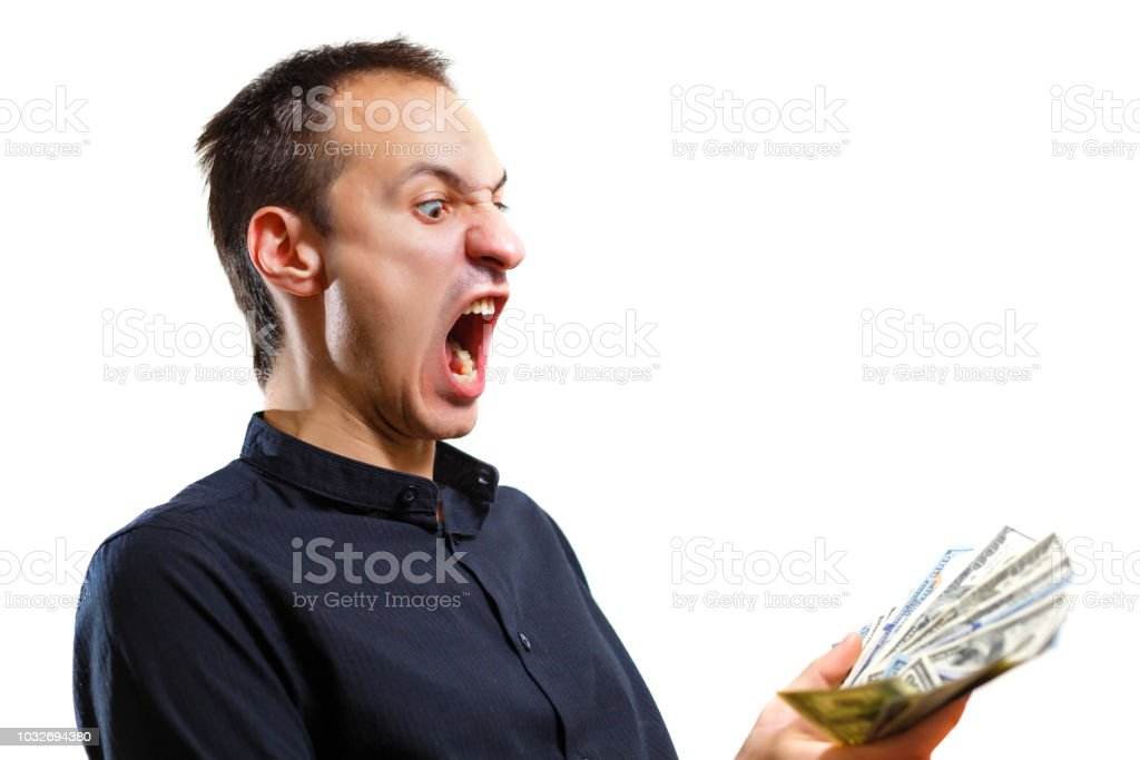 Happy Young Man Screaming Super Excited Portrait Ecstatic ...