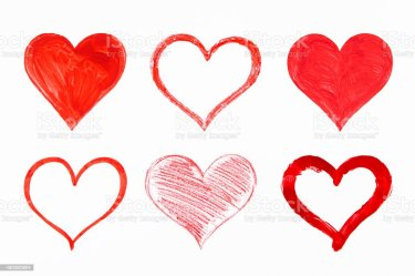hearts drawing dessin istock only