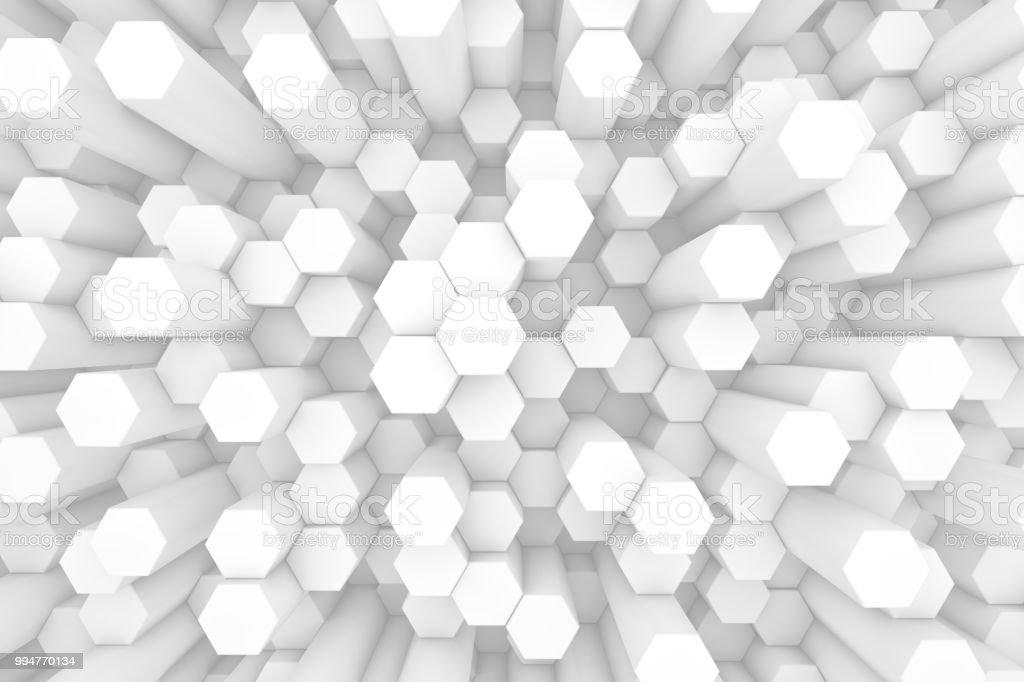 hexagonal honeycomb abstract 3d