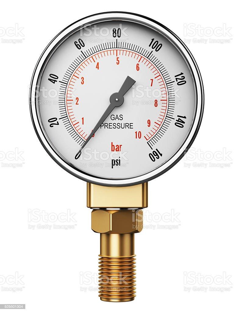 High Pressure Industrial Gas Gauge Meter Or Manometer Stock Photo - Download Image Now - iStock