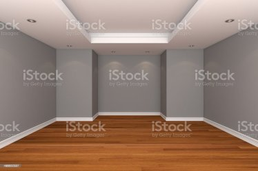 Home Interior Rendering With Empty Room Decorate Gray Color Wall Stock Photo Download Image Now iStock