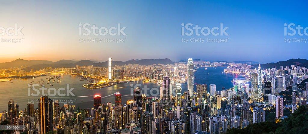 Hong Kong Victoria Harbor Scenes Under Sunset Stock Photo - Download Image Now - iStock