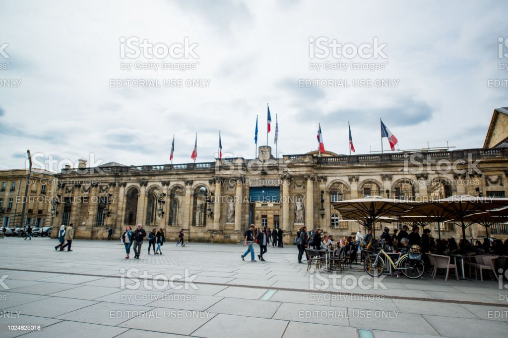 Hotel De Ville Bordeaux France Stock Photo Download Image