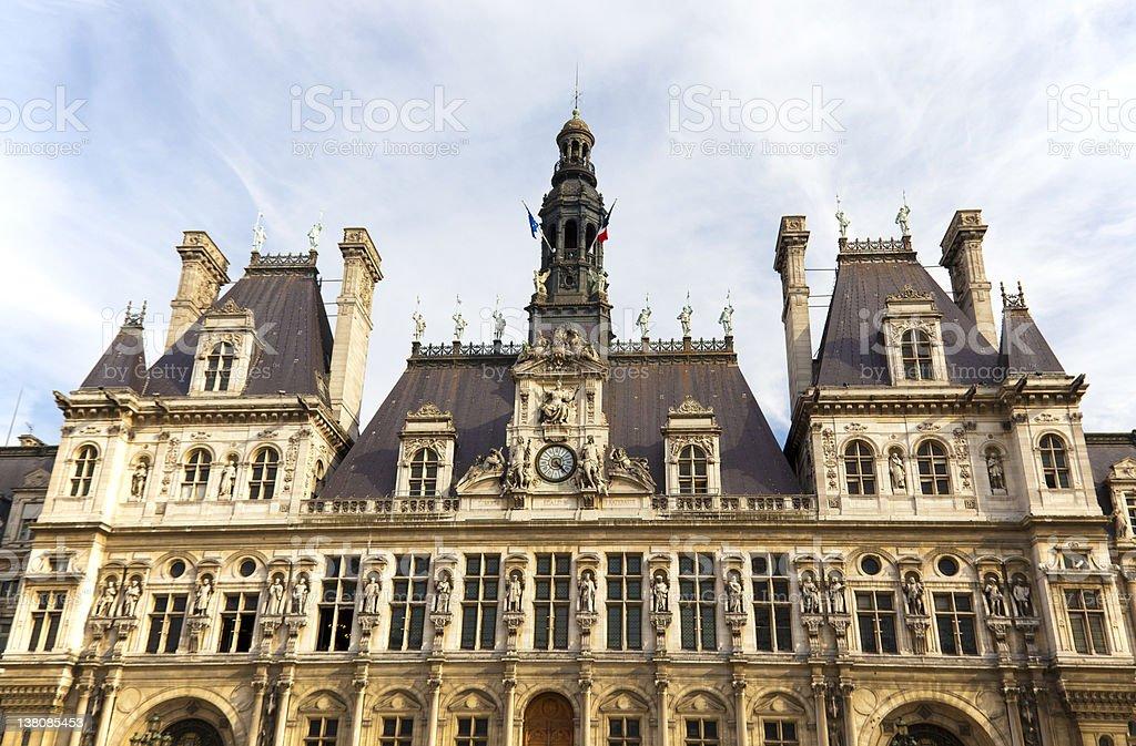 Hotel De Ville City Hall Of Paris Stock Photo Download