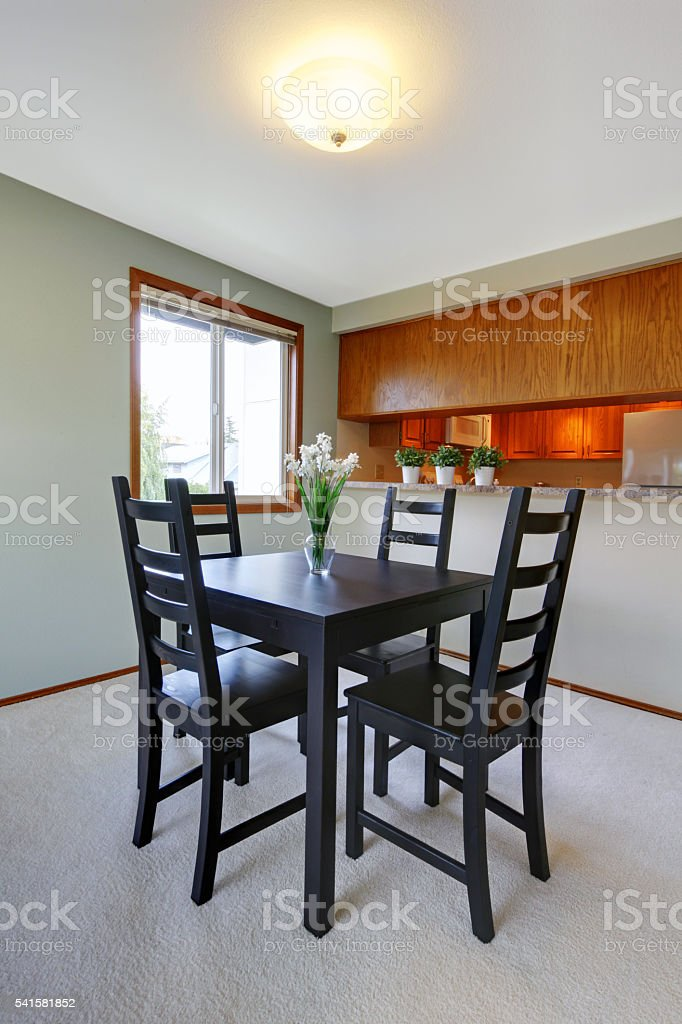 House Interior Simple Black Dining Table Set Stock Photo Download Image Now Istock
