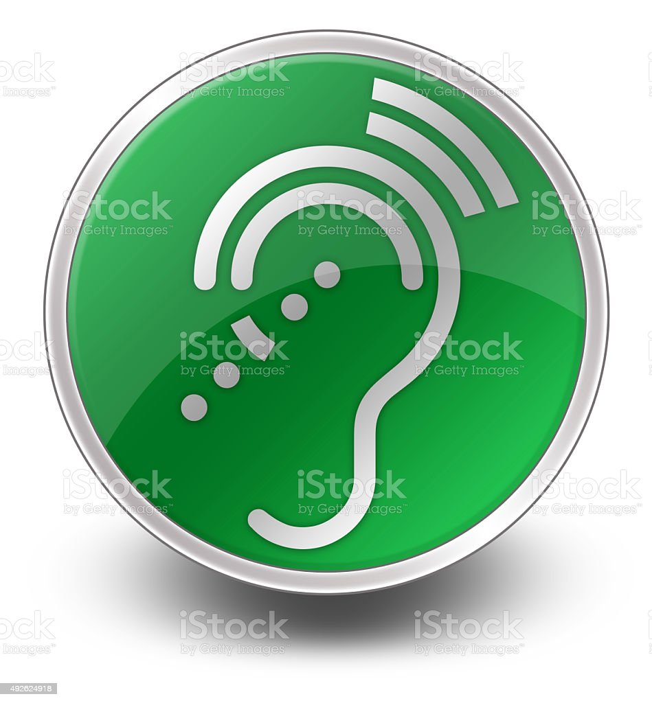 medium resolution of icon button pictogram hearing impairrment royalty free stock photo