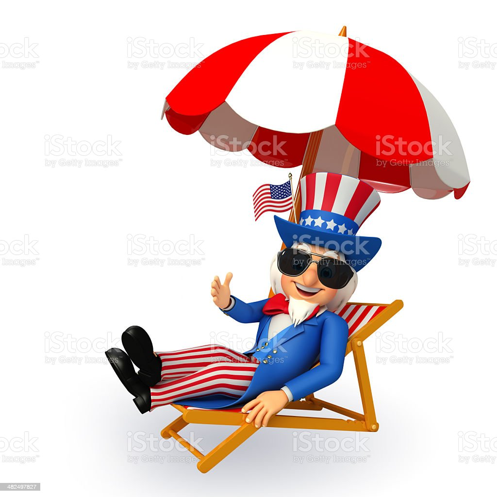 beach chairs sam s club cheap swivel chair illustration of uncle is sitting on the