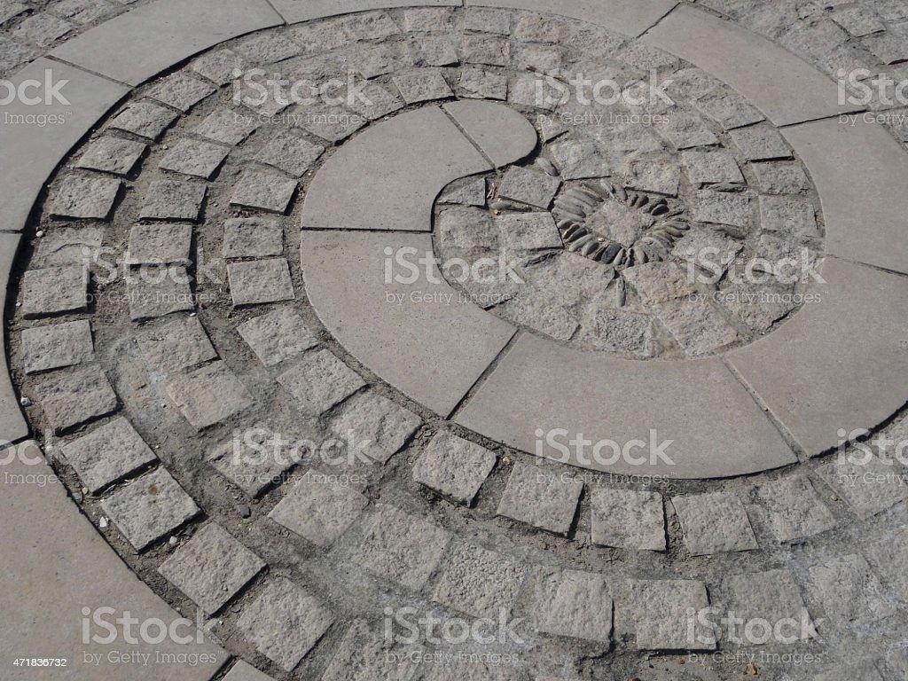 https www istockphoto com photo image of ammonite shaped patio spiral of paving slabs granite blocks gm471836732 63563333