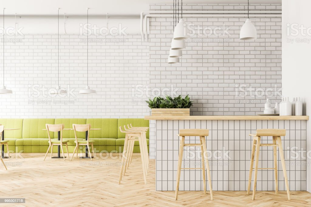 Industrial Style Cafe Interior Flower Beds Bar Stock Photo Download Image Now Istock