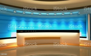 studio background anchor interactive tv backgrounds culture newsroom entertainment backdrop abstract screen production istockphoto