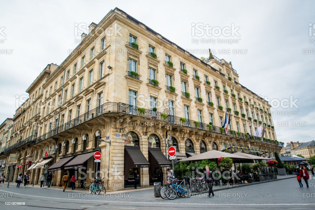 Intercontinental Bordeaux Le Grand Hotel France Stock Photo