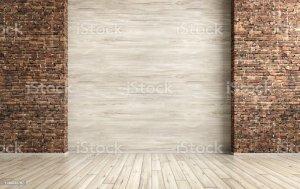 interior empty render rendering poster ottoman mock bench hall against grey