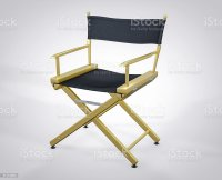 3d Isolated Film Director Chair Hollywood Studio Movie Set ...