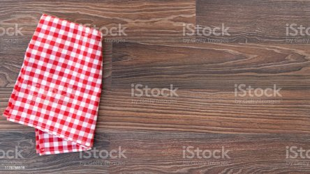 Kitchen Plaid Textile On Old Rustic Wood Food Menu Background Red Checkered Tablecloth Stock Photo Download Image Now iStock