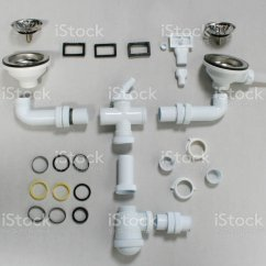 Kitchen Sink Drain Parts Chairs With Rollers Stock Photo More Pictures Of Bathroom Image