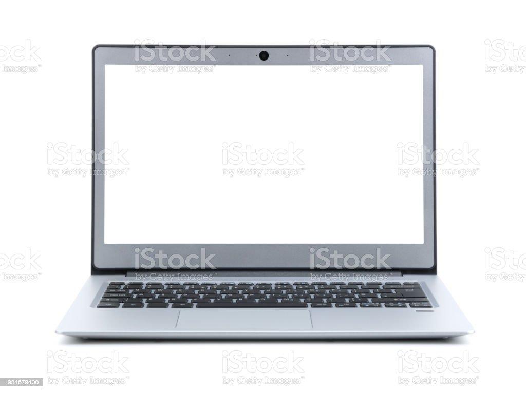 photo libre de droit de ordinateur portable avec ecran blanc isole sur fond blanc banque d images et plus d images libres de droit de affaires istock