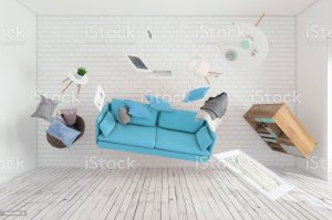 furniture upside down flying living around interior things istock avoid selling royalty gravity render showing concept under tips three openbravo