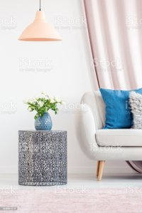 Living Room With Side Table Stock Photo & More Pictures of ...
