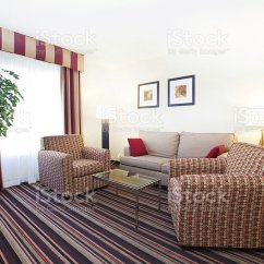 Living Room With Carpet Paint Ideas For Grey Furniture Striped Stock Photo More Pictures Of Angle Image