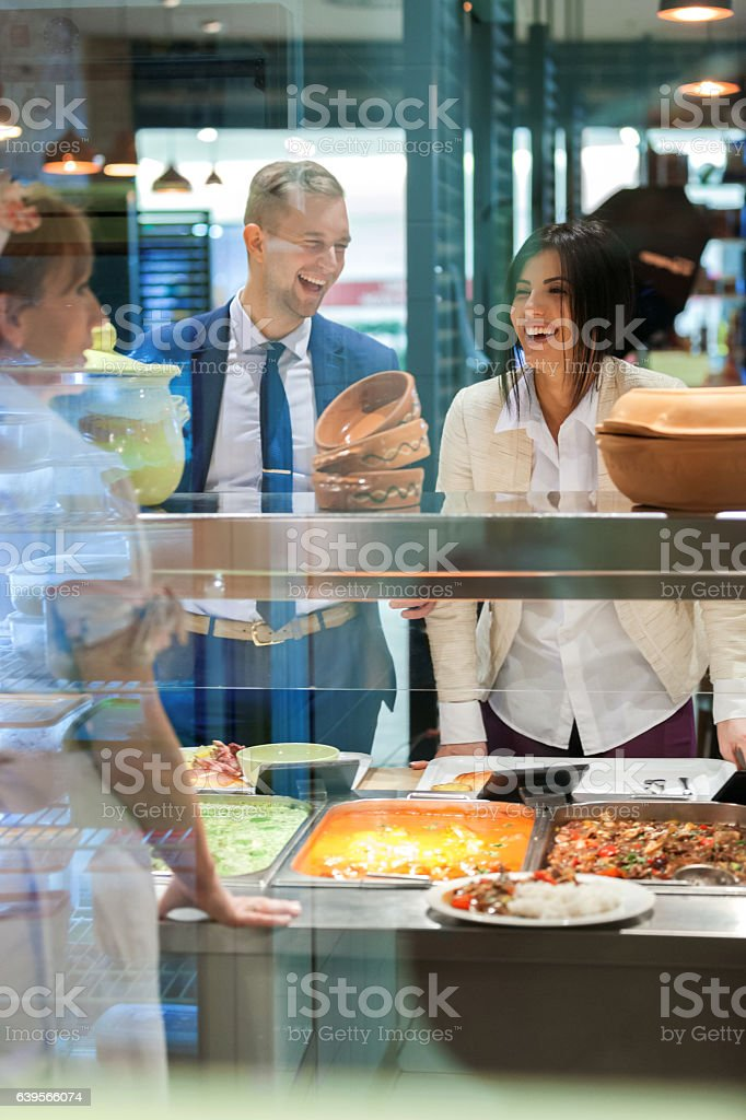 Lunch In Self Service Restaurant Stock Photo - Download Image Now - iStock