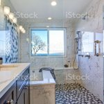 Luxury Bathroom Design With Marble Shower Surround Stock Photo Download Image Now Istock