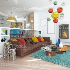 Kitschy Living Room Discount Furniture Free Shipping Luxury Large In The Style Of Kitsch Stock Photo More Image