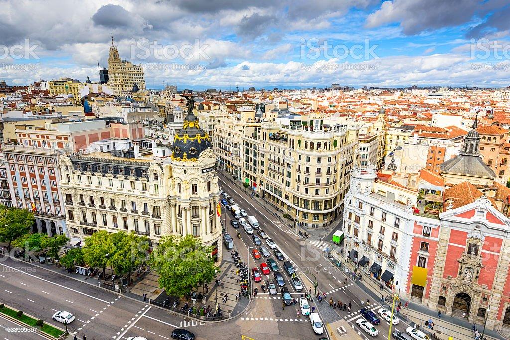 Paesaggio Urbano Di Madrid Spagna  Fotografie stock e altre immagini di 2015  iStock